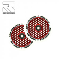 Колелца 120 mm ROOT WHEELS HONEYCORE  WHITE / RED