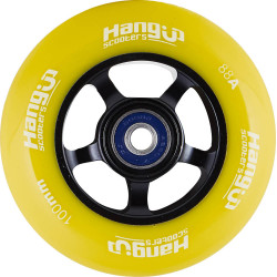 Колело HangUp Alu Core 100mm Pro Scooter Wheel (100mm - Black/Yellow)